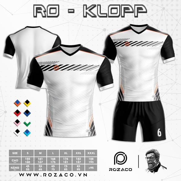 Áo Không Logo Rozaco RO-KLOPP Màu Trắng