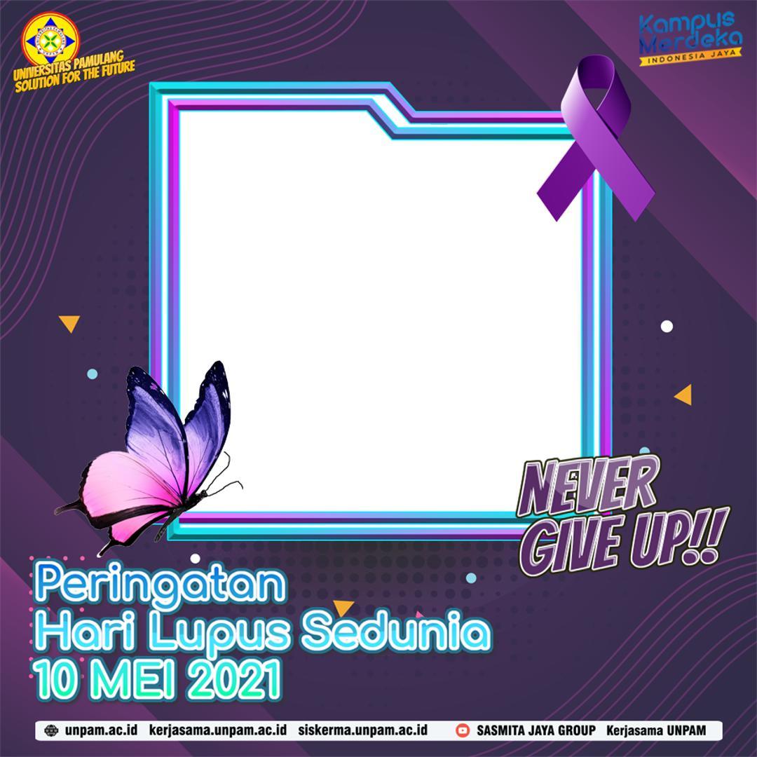 Frame Twibbon Peringatan Hari Lupus Sedunia 10 Mei 2021 - Make Lupus Visible