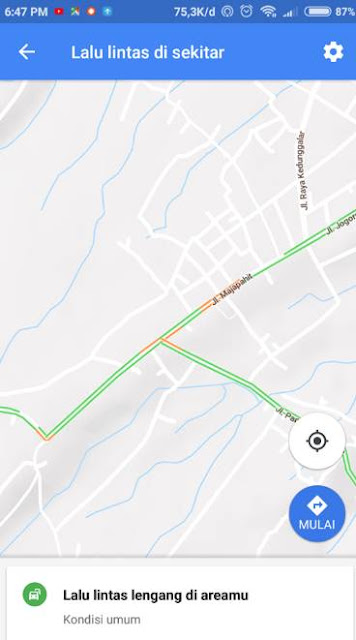 Cara Melihat Kemacetan Jalan di Google Maps