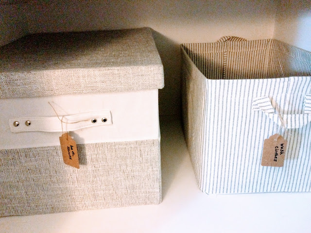 How to organize with totes in your bathroom