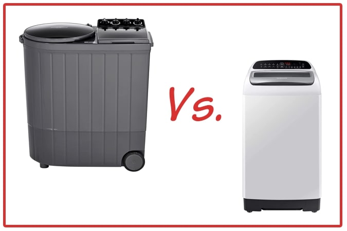 Whirlpool ACE XL (left) and Samsung WA65T4262GG/TL (right) Washing Machine Comparison.