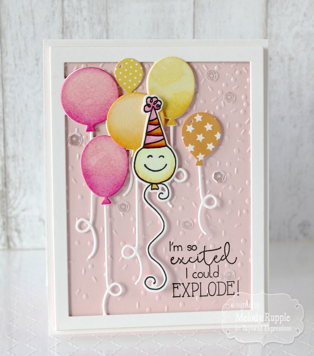 I Started By Creating The Frame With Up Away Cutting Plate This Cuts And Includes Balloon Dies So You Can Use To Add