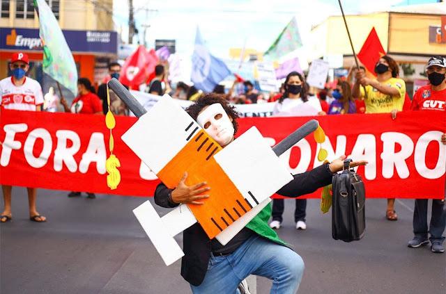 A foto mostra a manifestação do dia 3 de julho de 2021 do fora Bolsonaro em todo o Brasil.