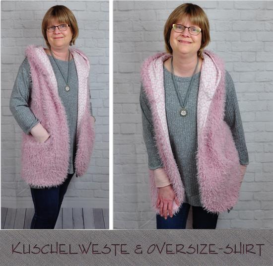 Kuschelweste und Oversize-Shirt by Kibadoo