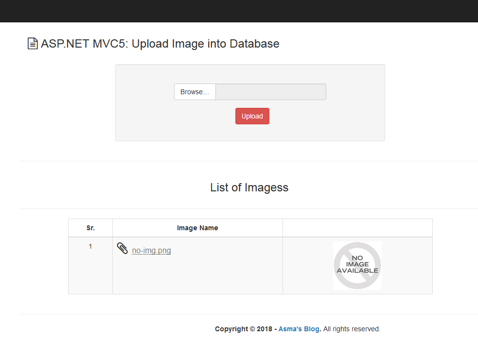 ASP NET MVC5: Upload Image/File into Database - Asma's Blog