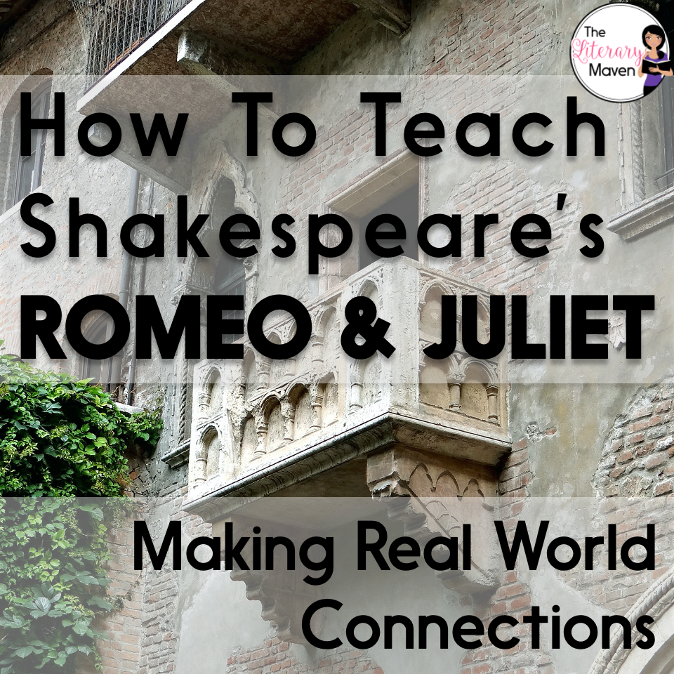 Whether you are a teacher tackling William Shakespeare's play Romeo and Juliet for the first time or you are a veteran looking to change how you've taught it in the past, it is always helpful to find out how another teacher plans it all out. Read on to find out how I make real world connections using nonfiction articles after students have finished reading the play.