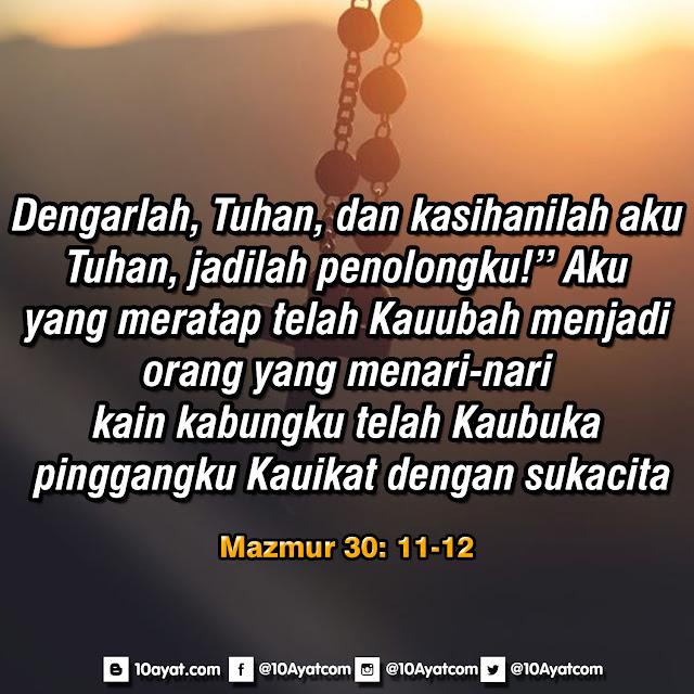 Mazmur 30 : 11-12