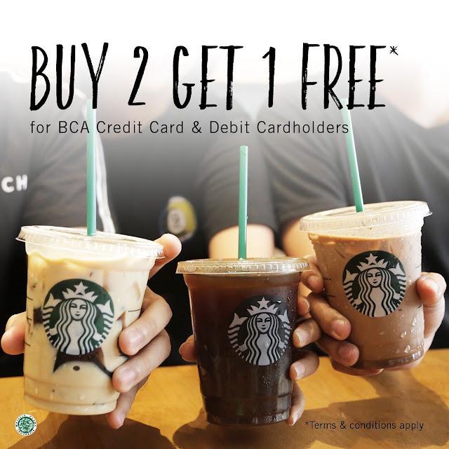 #Starbuck - #Promo Buy 2 Get 1 Free Pakai Kartu Kredit & Debit BCA