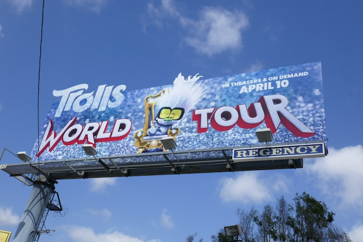 Trolls World Tour Tiny Diamond cutout billboard