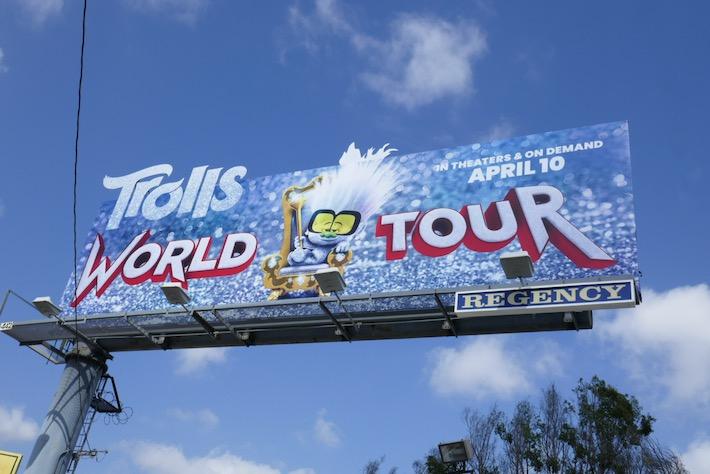 Trolls World Tour Tiny Diamond cutout billboard