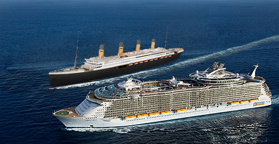 Titanic and Allure of the Seas Comparison 2