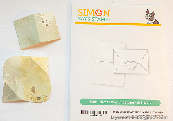 Layers of ink - Water Stenciling Video Tutorial by Anna-Karin Evaldsson. Die cut the Simon Says Stamp Mini Interactive Envelope.
