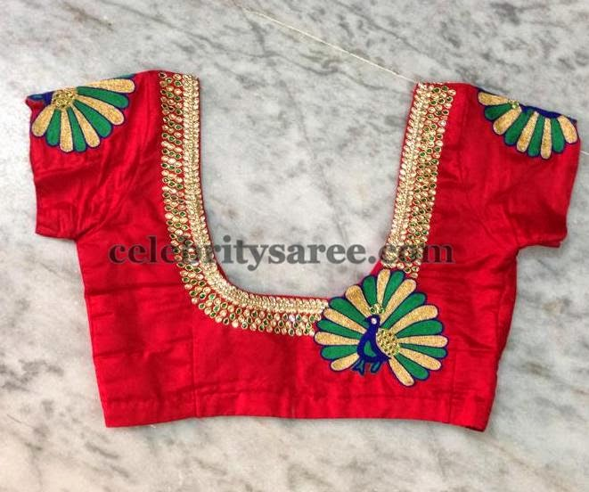 33cce764d67aee Peacock Design Simple Blouses - Saree Blouse Patterns