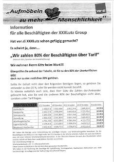 Xxxlutz Verdi Infoblog Wir Zahlen 80 Der Beschäftigten über Tarif