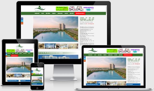 Template blogspot bất động sản dự án Tây Hồ Riverviews
