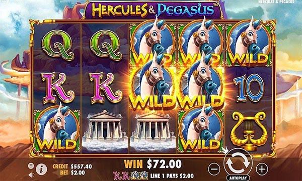 Main Gratis Slot Indonesia - Hercules and Pegasus (Pragmatic Play)