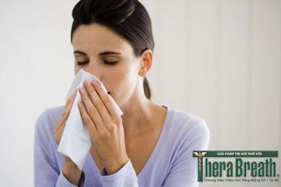 Viêm mũi là cách nhận biết hôi miệng