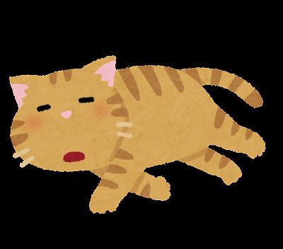 だるい猫のイラスト