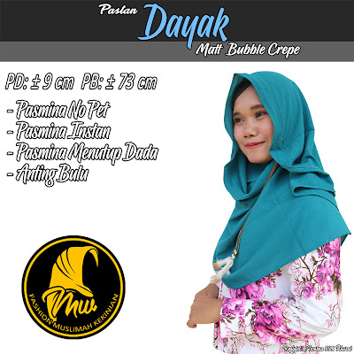Jilbab pastan Bubble Crepe Pasmina No pet Variasi Anting Bulu