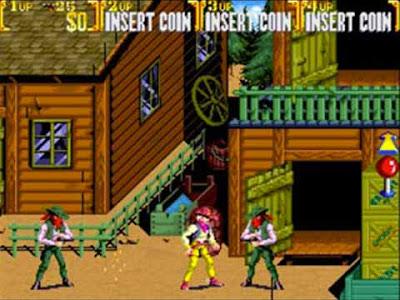 Il primo livello di Sunset Riders arcade