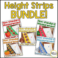 Non-Standard Height Measurement Bundle, www.justteachy.com