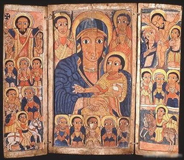 Pintura Virgem Maria
