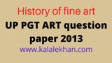 up pgt art solve paper 2013