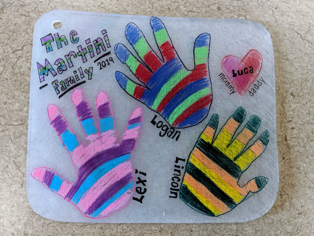 Shinky DInk, DIY shrinky dink, family shrinky dink, gift, personalized shrinky dink, kids hand prints, hand print shrinky dink, kid activity, kid craft, personalized Christmas ornament, little hands, unique shrinky dink, gift for mom, gift for dad, Mother's Day gift, fathers day gift,