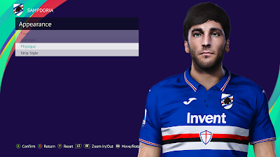 PES 2021 Faces Tommaso Augello by Andò12345