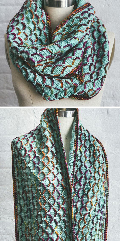 Glorious Cincuenta Cowl - Free Knitting Pattern
