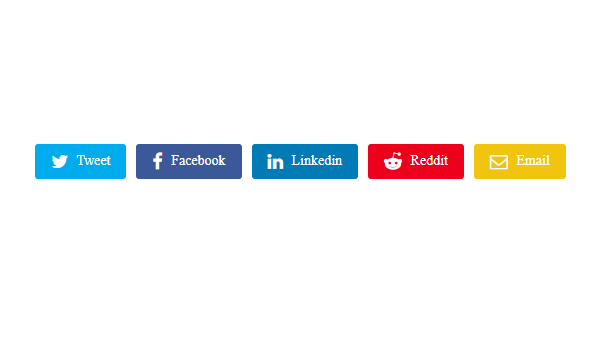 Simple Social Media Share Buttons Blogspot