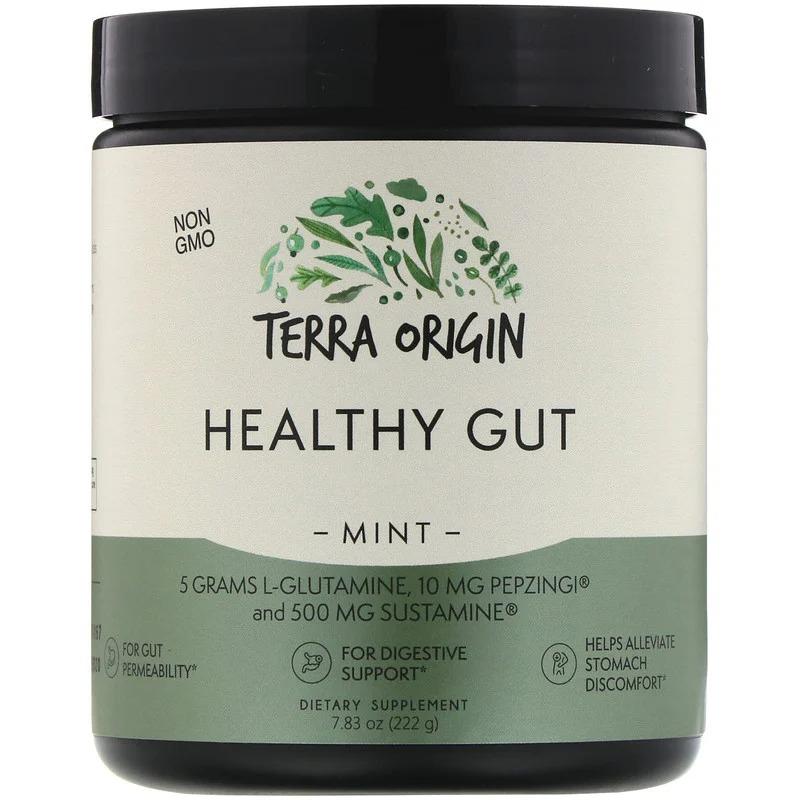 Terra Origin, Добавка для нормализации функций желудочно-кишечного тракта, вкус мяты, 222 г (7,83 унции)