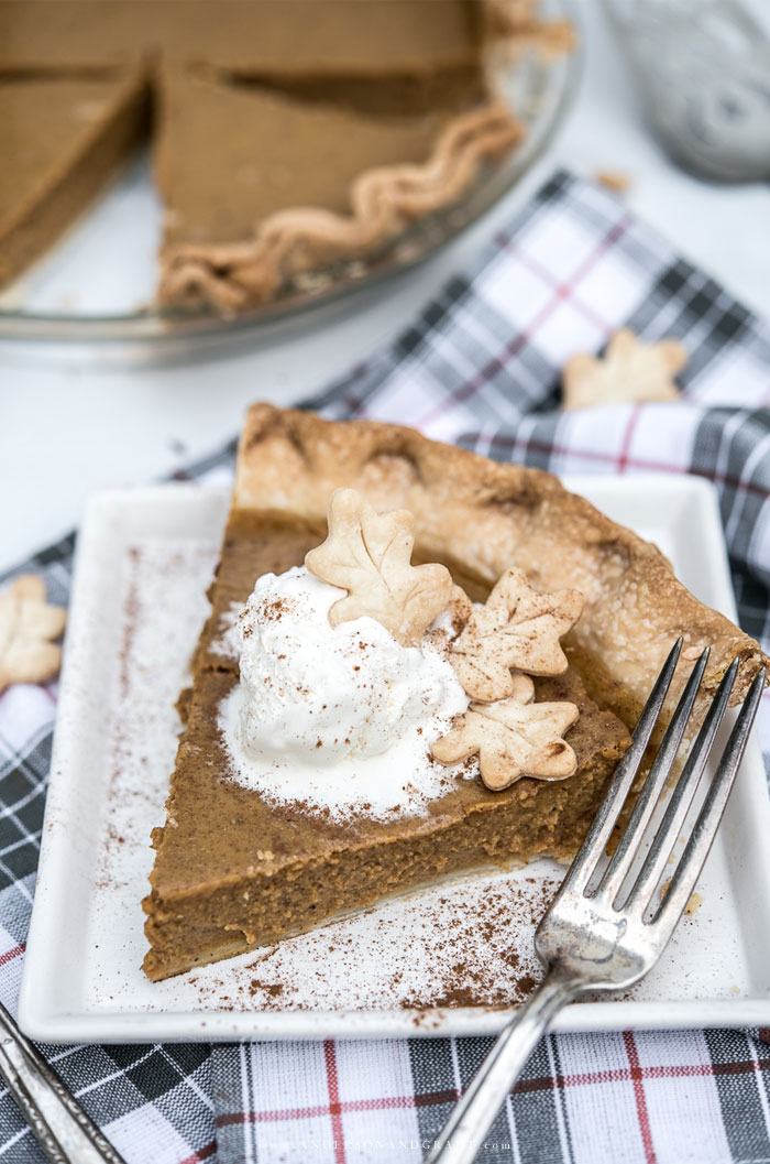 Pumpkin pie for fall