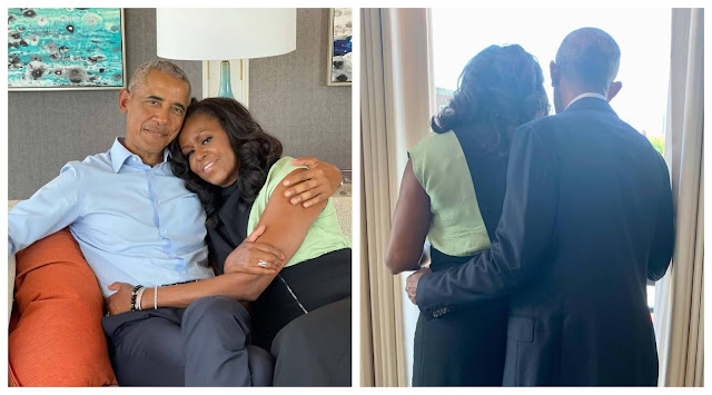 I cant Imagine life without you- Barack Obama showers sweet words on his wife as they celebrate their 29th wedding anniversary (Photos)