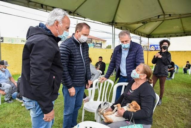 Prefeito Hélder Lazarotto e Secretário Zé Vicente acompanham de perto o programa de castração gratuita de animais na cidade de Colombo