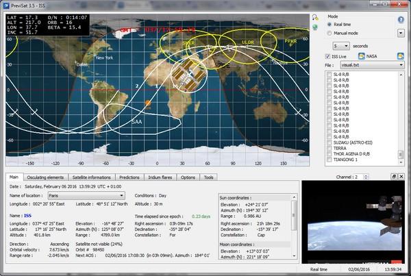 Δωρεάν πρόγραμμα παρατήρησης δορυφόρων σε πραγματικό χρόνο