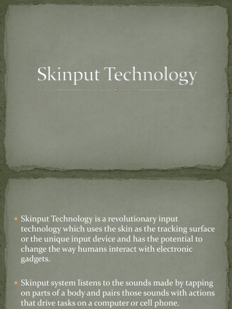 Skinput Technology Seminar Pdf