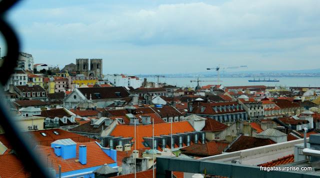 Lisboa vista do mirante do Elevador de Santa Justa