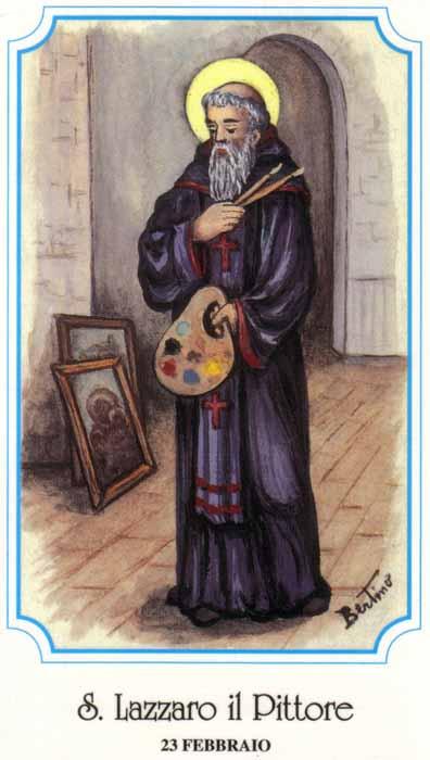 sveti Lazar - menih in slikar