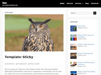 Dax - Responsive Multi-Purpose Theme WordPress
