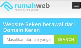 Halaman rumahweb untuk beli domain