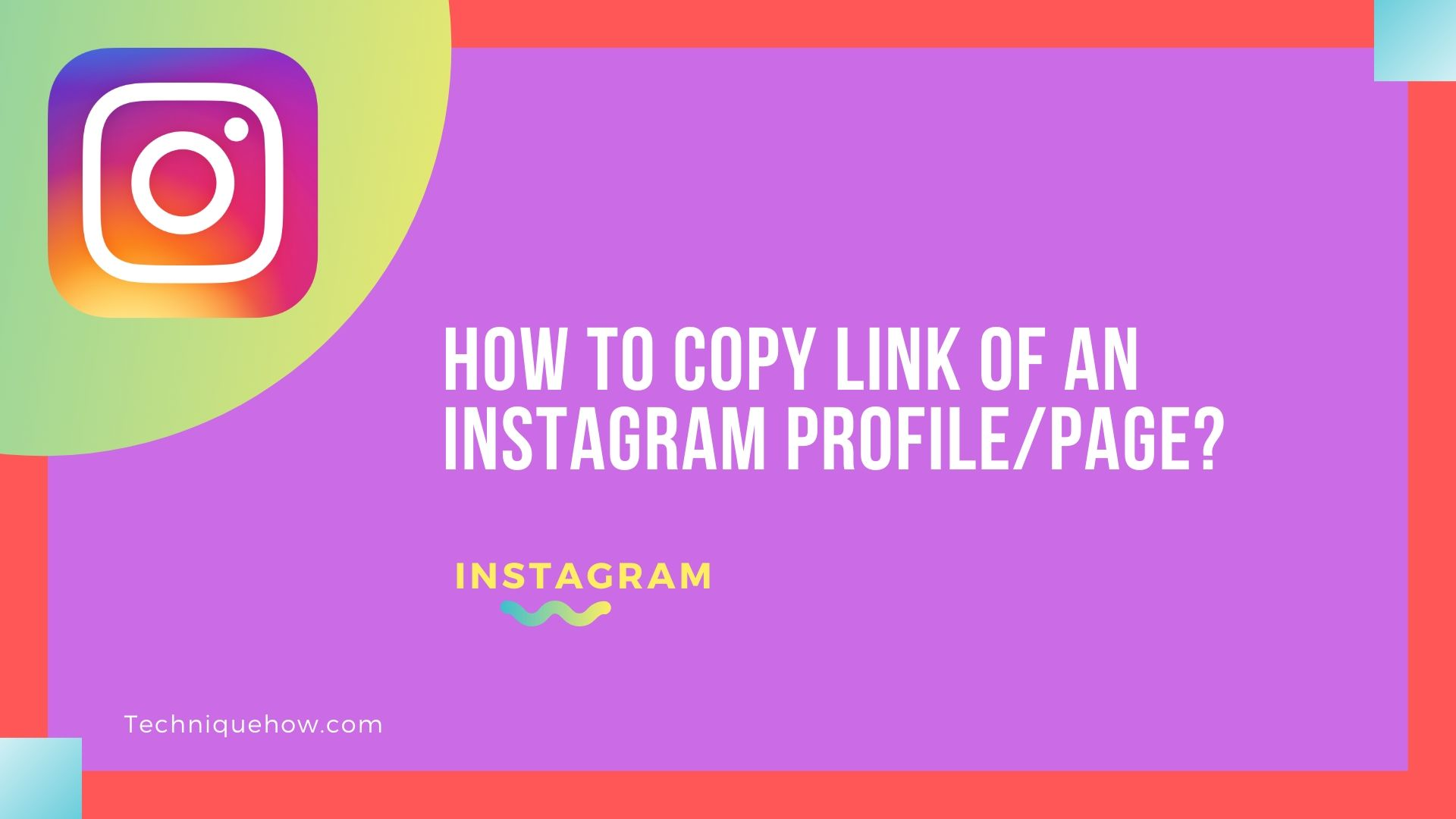 Copy Link of an Instagram Profile