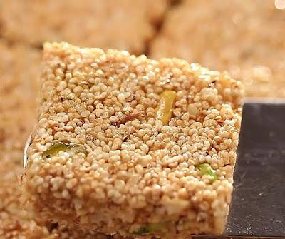 Homemade rajgira chikki recipe