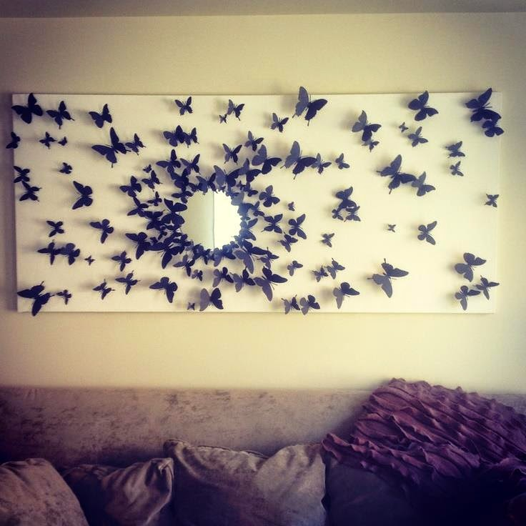 Modern Decorative Butterflies For Walls Inspiration - Wall Art ...