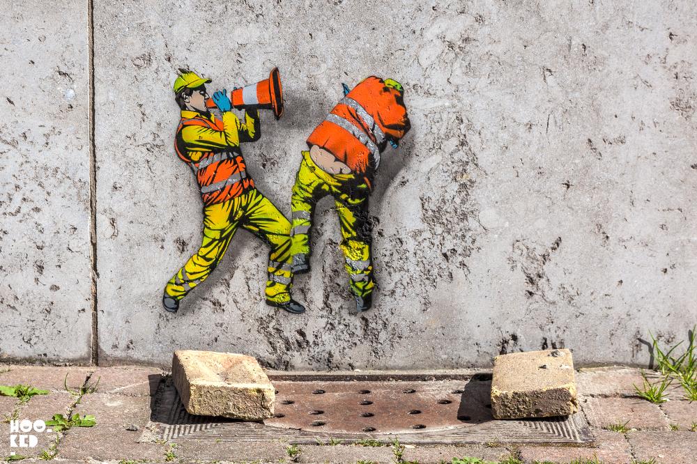 New Ostend stencil work from Belgian Street artist Jaune