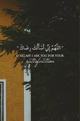 اللهم انى اسالك رضاك