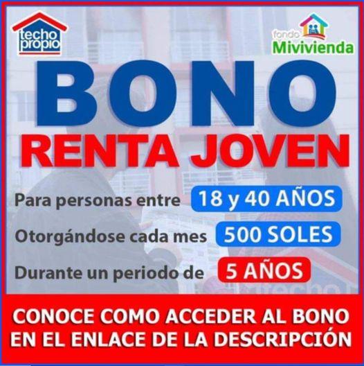 Bono Renta Joven De 500 Soles: 2da Convocatoria En Junio 2021