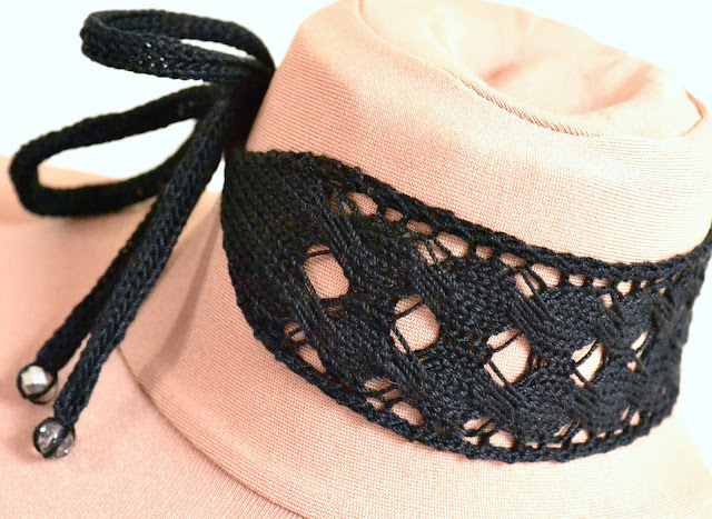 Jera Rune Inspired Lace Choker Knitting Pattern