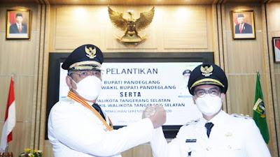 Wali Kota dan Wakil Wali Kota Tangerang Selatan terpilih dilantik