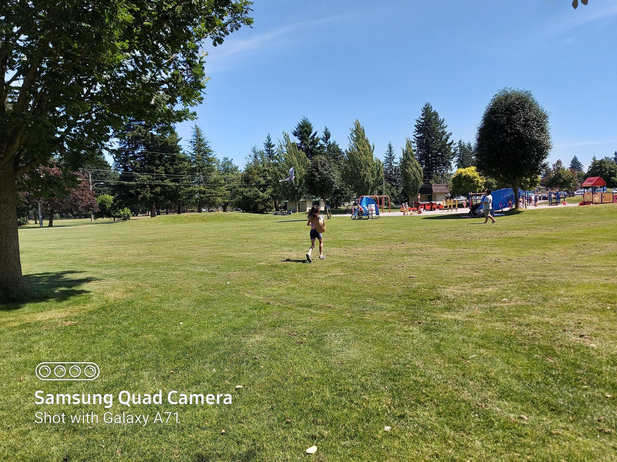 Red playground Mill Lake Park